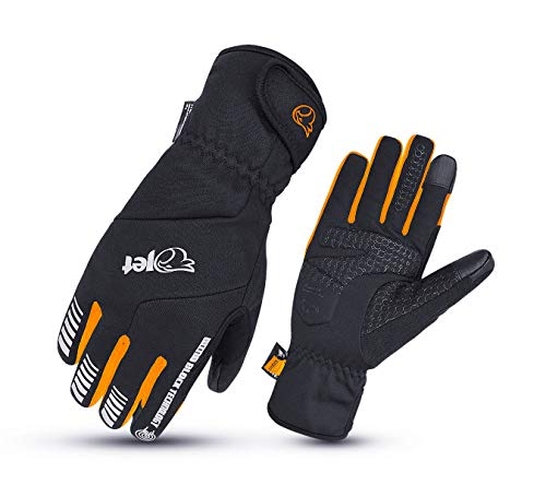 JET Invierno frío Clima Impermeable Ciclismo Guantes Gel Protector Acolchado 3M Thinsulate...