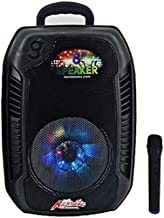 Speaker XQJJFJ Complete Portable PA System | Wireless Microphones & Media Player with USB/TF/FM & Bluetooth Connectivity, ... photo