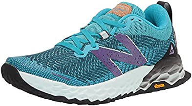 New Balance Women's Fresh Foam Hierro V6 Trail Running Shoe, Virtual Sky/Sour Grape, 8.5