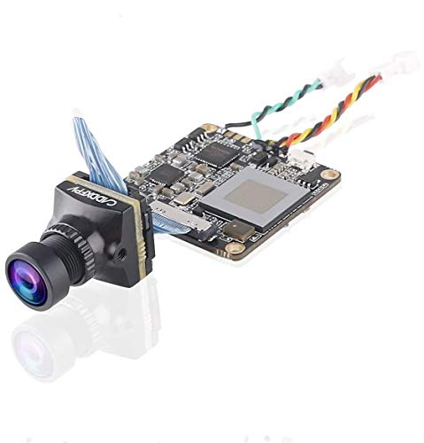 Telecamera FPV Caddx Loris 4K 60FPS Mini HD Cam 800TVL obiettivo 1.8mm FOV 165 gradi PAL / NTSC commutabile con sensore CMOS 1 / 2.7 latenza DWMS 40ms per FPV Quadcopter Racing Drone nero