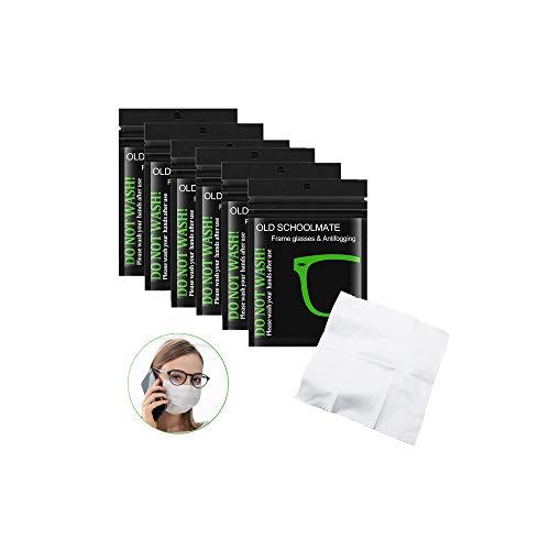 LATTCURE Anti-Fog-Tuch Brillenputztuch Reinigungstücher Anti-Beschlag-Tücher für Brillen, 6 PCS Antibeschlag Brillenreinigungstücher wiederverwendbare Brillentücher Microfasertuch, Autospiegel