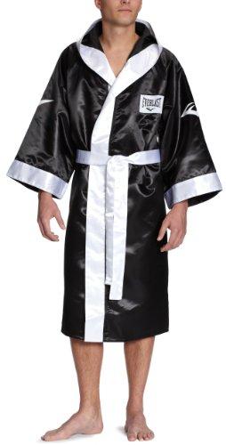 Everlast 4387H - Bata de boxeo con capucha unisex, color negro, talla M