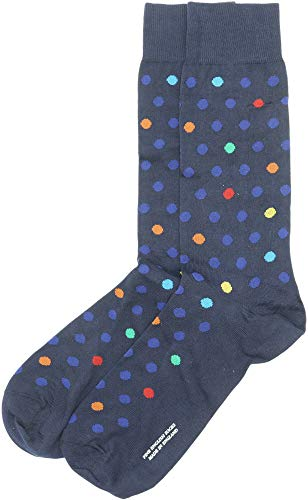Pantherella Somerford Herren-Socken, mittelhoch, gepunktet - Blau - Medium
