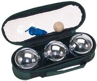 comprar comparacion Juego de 3 bolas de petanca cromadas, incluye bolsa, 720 gr