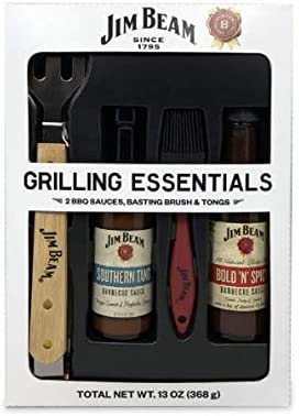 Jim Beam Grilling Essentials With Basting Brush Tongs 13 Oz product image