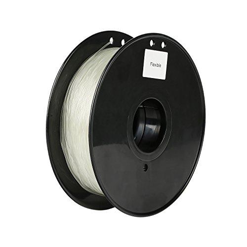 SainSmart Flexible TPU 3D Printing Filament, Glow in the Dark, Luminous Green, 1.75 mm, 1 kg, Dimensional Accuracy +/- 0.05 mm