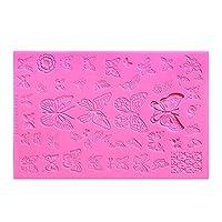 ネイル彫刻マニキュアステンシル3Dリリーフ型ファッション DIY.ネイルアート彫刻シリコン印刷テンプレート美容ツール CHAOCHAO (色 : 2)