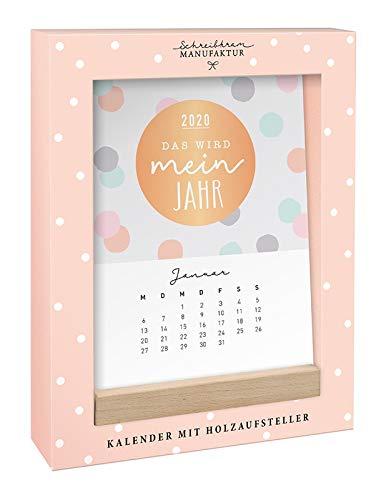 Tischkalender 2020 Das wird mein Jahr: Kalender mit Holzaufsteller