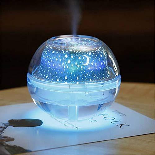 Ventas de Calor Lyperkin Crystal Humidificador de Proyección! Lyperkin 500ml USB Colorido Proyector LED Humidificador de Luz Fantasía...