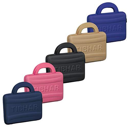 Tibhar Tischtennisschläger Tasche Eva-Case | ultraleichte Hülle für 2 Tischtennis-Schläger | wasserabweisend (schwarz)