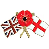 Large Union England Red Flower Flags