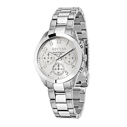 Sector No Limits Damen Analog Quartz Uhr mit Stainless Steel Armband R3253588502