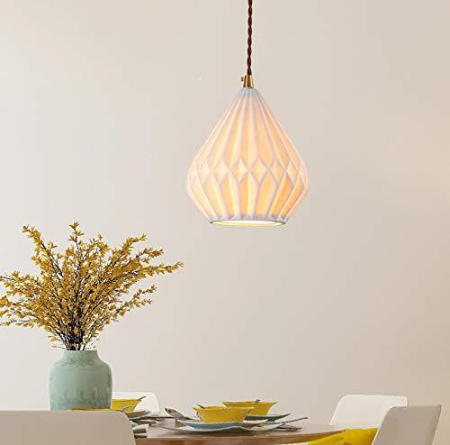 Origami Craft Hecho a mano Lámparas de papel blanco Tonos con cable Ajuste fácil para vivir Comedor Cama Cocina Habitación
