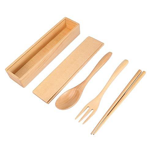Estuche de cuchara con tenedor, palillo de sushi, estuche de almacenamiento de vajilla Palillos portátiles Estuche de cuchara con tenedor Juegos de vajilla para personas de oficina Vajilla