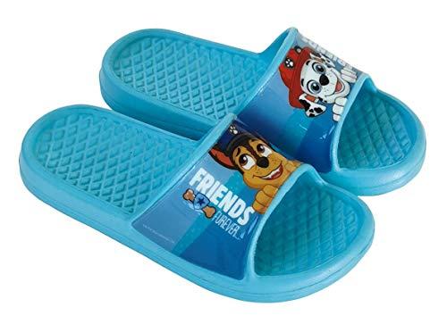 Chanclas Patrulla Canina para Niños - Chanclas Paw Patrol para Playa o Piscina (Azul, Numeric_30)