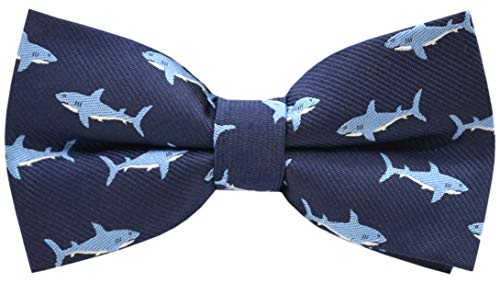 Carahere Boys Handmade Adjustable Pre-Tied Pattern Bow Ties For Kids Toddler Bow Ties (shark pattern)