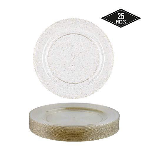 "100 X Negro 10/"" Mozaik Desechables Duro Plástico Platos fuerte 26 Cm"