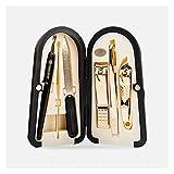 Kit de Cortaúñas Kit de pedicura de aseo 6 en 1 conjunto de manicura, kit profesional de uñas para pedicura y manicura, herramientas de pedicura con estuche portátil Juego de Manicura Pedicura