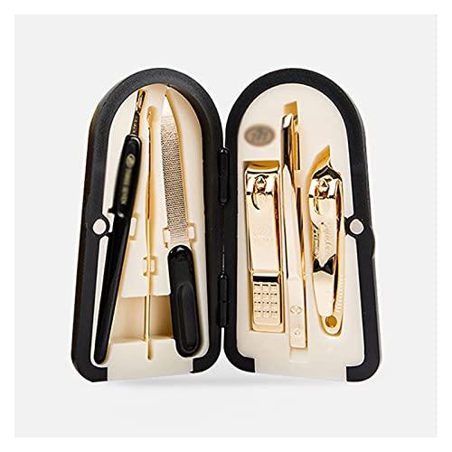 Clipper de uñas Kit de pedicura de aseo 6 en 1 conjunto de manicura, kit profesional de uñas para pedicura y manicura, herramientas de pedicura con estuche portátil Conjunto de pedicuras