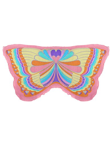 Dreamy Dress-Ups 62348 Wings, Pink Rainbow Butterfly (ailes en tissu, papillon motif arc-en-ciel, rose, multicolore)
