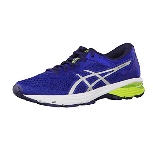 Asics GT-1000 6 (T7A4N)- Zapatillas de deporte para hombre, Azul (Limoges/Silver/Peacoat), 41.5 EU