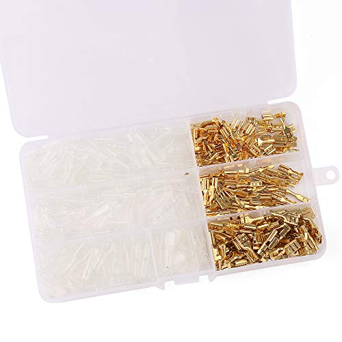 URBEST 20Pcs Female Spade Cable Wire Terminals for 2.8mm Connectors