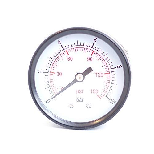 Manometer Druckanzeige für Hauswasserwerk Druckkessel Gartenpumpe, 1/4 Zoll 50mm 10bar