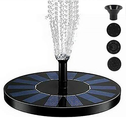 PETAMANIM ·Solar Springbrunnen, Solar Teichpumpe Outdoor Wasserpumpe Solar Pumpe mit 1W Monokristalline Solar schwimmender Fontäne Pumpe für Gartenteich Oder Springbrunnen Vogel-Bad Fisch-Behälter
