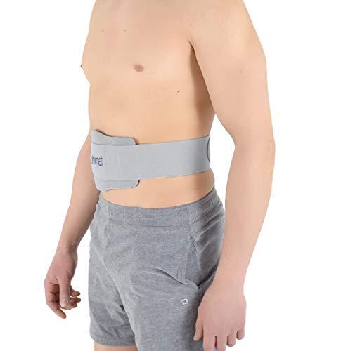 Cinturón de hernia umbilical, espuma EVA termoformada, almohadilla de silicona anatómica