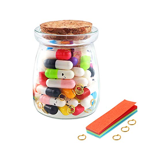 Hslife 52 Pcs Love Capsules, Letters Message Letters Message Wish Bottle, Birthday Present Party...