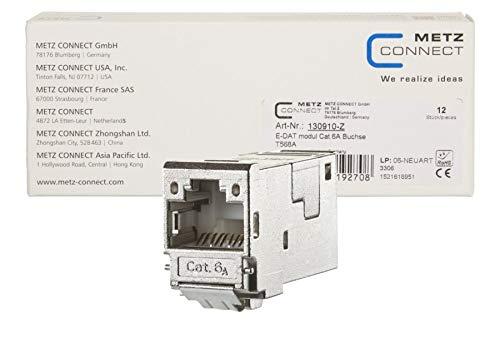 METZ Connect E-DAT modul Cat.6A Buchse 8(8) T568A, VPE 12 Stück