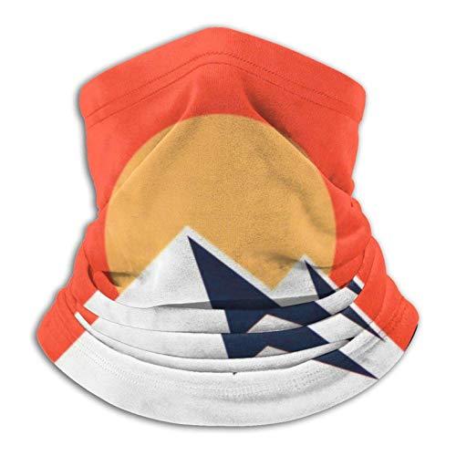 Turbante básico para bufanda, mitad, bandana, pasamontañas, gorro resistente, polaina, Colorado Sunset suave calentador de cuello pasamontañas para motocicleta, ciclismo, snowboard, diademas