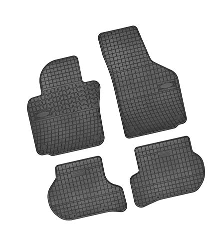 Bär-AfC SK03558 Lot de 4 tapis de sol en caoutchouc pour voiture Noir Bord surélevé