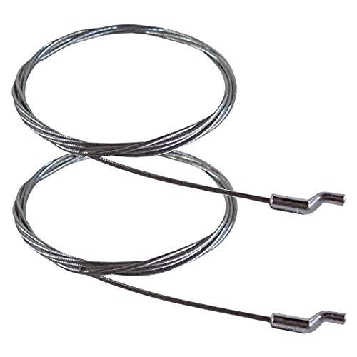 cyclingcolors 2x CABLE tracción EN Z PARA cortacésped acelerador Ø1.8mm x 1.9m GAS TRACTOR PIEZA Jardín MOTOCULTOR