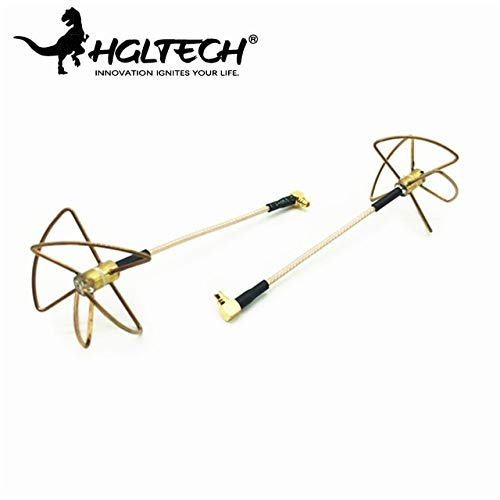 Price comparison product image Parts & Accessories Hglrc 5.8G 2.0Dbi-2.5Dbi Rhcp Omnidirectional Mmcx To Pigtail 6.5Cm 4 Leaf Clover Fpv Antenna For Rc Multirotor Singal Part Accs