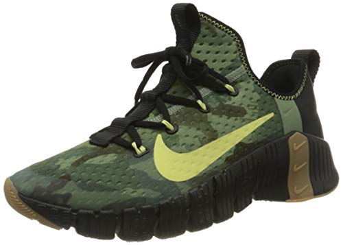 Nike Unisex Free Metcon 3 Fussballschuh, Black Limelight Spiral Sage Gum Med Brown Black, 40 EU