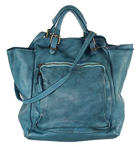 BZNA Bag Rob petrol Backpacker Designer Rucksack Damenhandtasche Schultertasche Leder Nappa sheep ItalyNeu