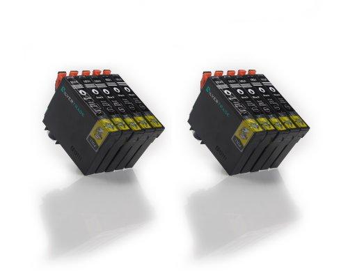 10 XL compatibile Cartucce d'inchiostro Epson T1631 nero (16XL) con CHIP per Epson WorkForce WF2010 W, WF2510 WF, WF2520 NF, WF2530 WF, WF2540 WF