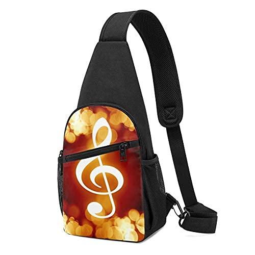 Flaming Music Note Sling Mochila bandolera bandolera