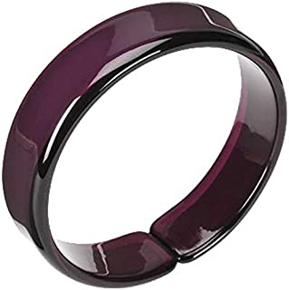 Ultra Violet Resin Bangle with Expandable Opening