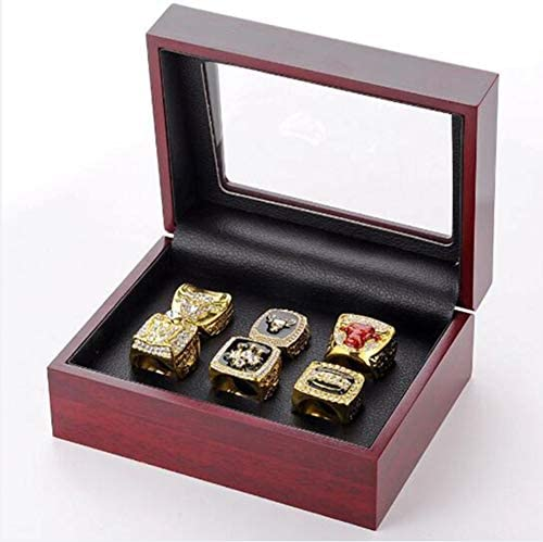ZXY GF Sports Store Set of 6 NBA Bulls Championship Replica Ring by Display Box Set Collectible product image