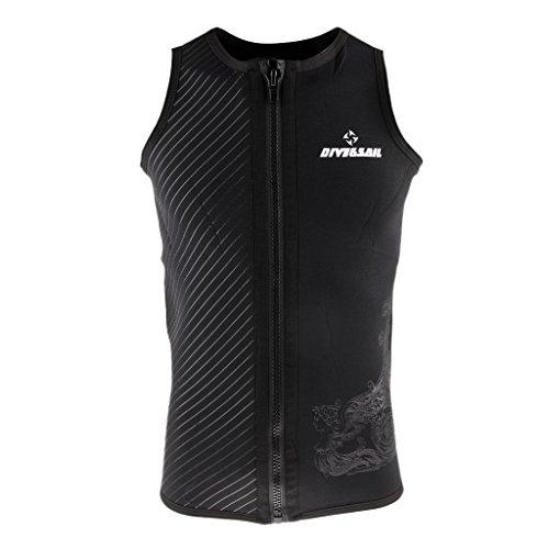 Backbayia 3mm Neopren-Jacke Tauchen Apnoe Sport Wassersport Tauchen Sicherheitsweste Unterwasser Jacke Kombination für Herren, S