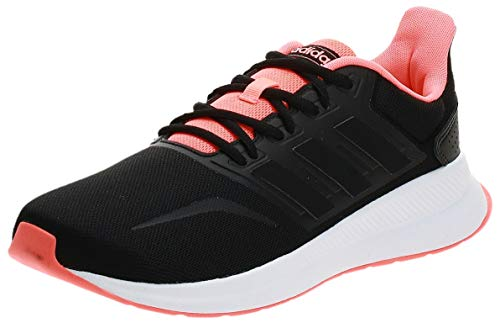 Adidas RUNFALCON, Zapatillas Running Hombre, Negro (Core Black/Core Black/Signal Coral), 44 2/3 EU