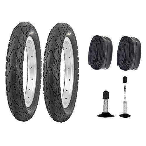 P4B | 2X Komplettes 16 Zoll Reifen - Set = 2X 47-305 Fahrrad Reifen (16 x 1.75) | 2X Schläuche 16 Zoll | AV 40 mm | FORMGEHEIZT