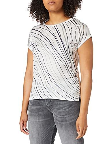 TOM TAILOR Damen 1025275 Fabric Mix T-Shirt, 10315-Whisper White, 3XL