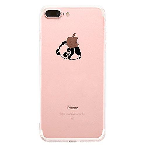Teryei Coque iPhone 7 Plus / 8 Plus, Silicone TPU Souple Housse [ Ultra Mince ] Anti-Scrach Case Full Protection Transparent Anti-égratignures Bumper pour iPhone 7 Plus / 8 Plus (6, iPhone 8 Plus)