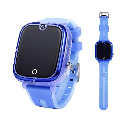 GUALARU Reloj Inteligente 2G para niños con Chat, Llamadas, localizacion GPS (Azul)