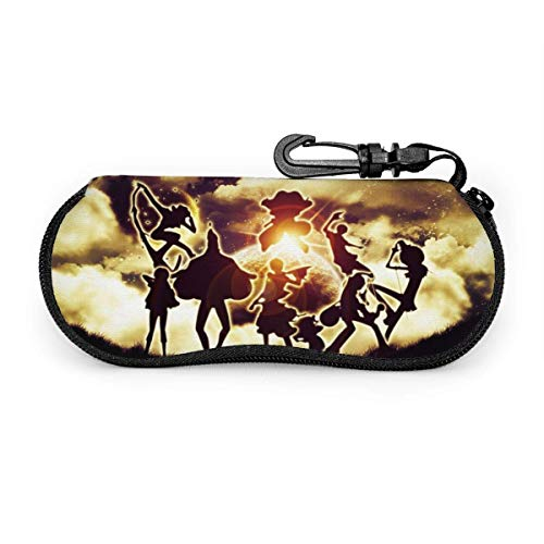 Funda para gafas de sol de una pieza con diseño de nubes de anime funda de neopreno ultra suave con cremallera y clip para cinturón
