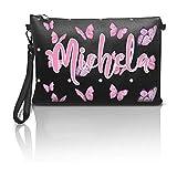 love print Bolso de mujer personalizado con impresión de vinilo del nombre o iniciales de ecopiel sintética NOME Butterfly