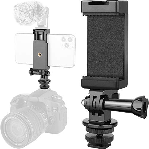 Anwenk Phone Holder Hot Shoe Mount Adapter with Cold Shoe Mount for Microphone Flash Light Compatible product image